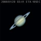 輪の薄くなった土星